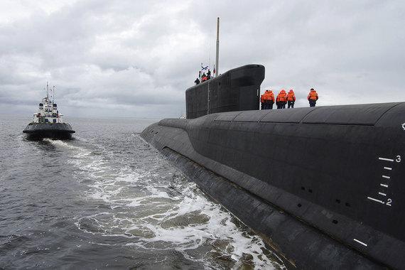 Подводные атомные лодки для баллистических ракет (ПЛАРБ) проекта 955 – основа стратегической безопасности России на море. На фото подлодка «Юрий Долгорукий»