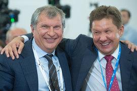 Вознаграждение топ-менеджеров госкомпании (на фото слева – главный исполнительный директор «Роснефти» Игорь Сечин, справа – предправления «Газпрома» Алексей Миллер) пока не рассчитывается в правительстве