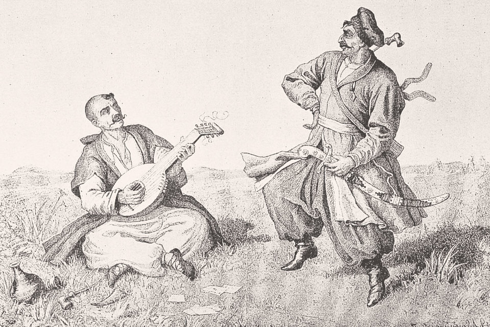 В мифологии южнорусса центральное место занимает образ свободолюбивого казачества