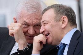 Бизнесмены под санкциями могут получить налоговые преференции (на фото слева направо Геннадий Тимченко иАркадий Ротенберг)