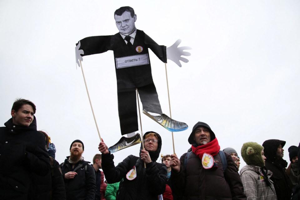 Митинг против коррупции в Санкт-Петербурге