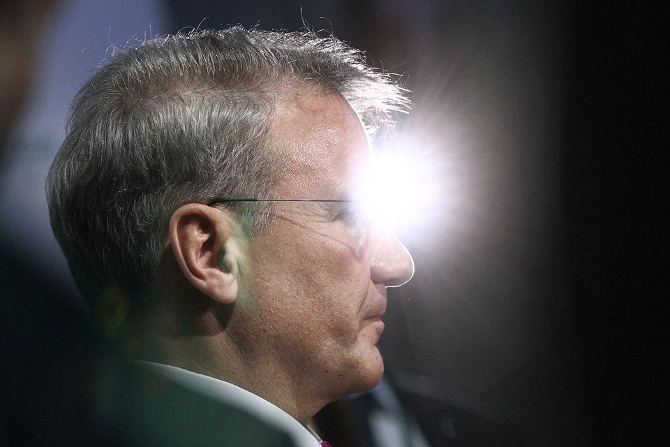 Ставки Сбербанка светят, но не греют (на фото президент банка Герман Греф)