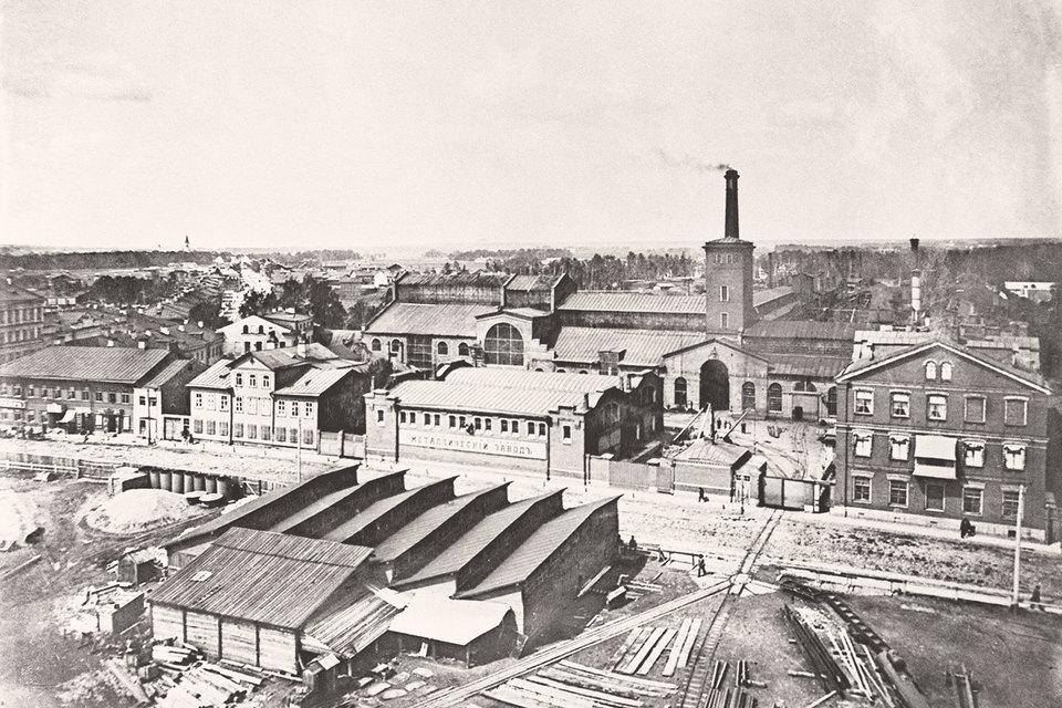 После отмены крепостного права в России активно развивался частный капитал. На фото: Металлический завод в Санкт-Петербурге