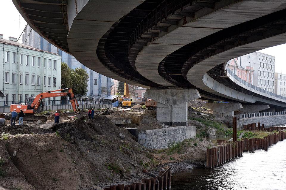 Развязку на Обводном канале от Французского ковша до проспекта Обуховской обороны достроит СК «Орион плюс»