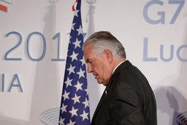 Сегодня в Москву прибывает присутствовавший на встрече министров G7 госсекретарь США Рекс Тиллерсон