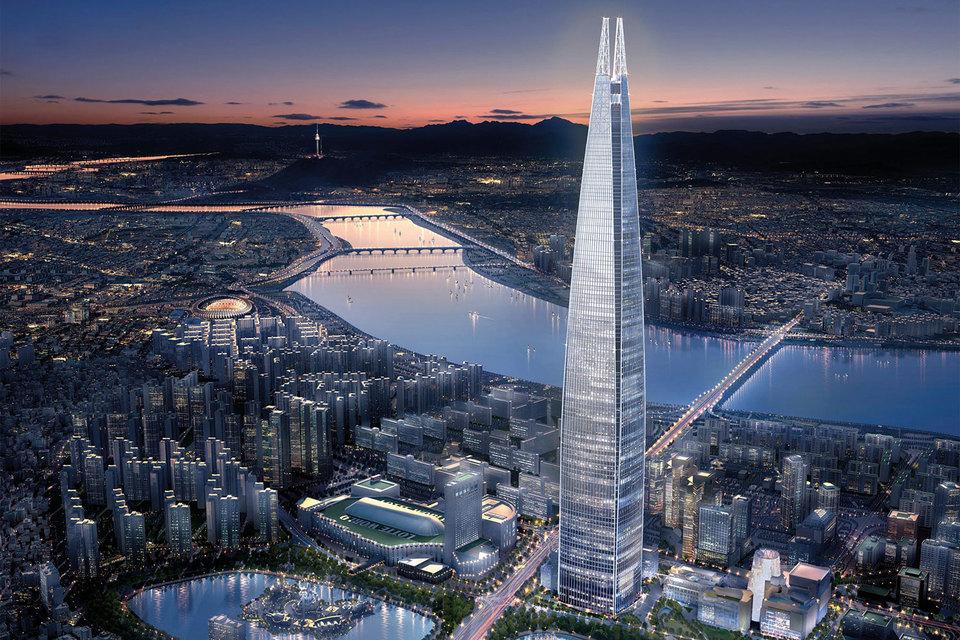 Самый высокий отель в мире Signiel Seoul занимает 76-101 этажи Lotte World Tower