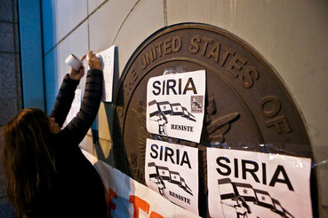 Коалиция под эгидой США нанесла удар с воздуха по штабу и складам с химическим оружием