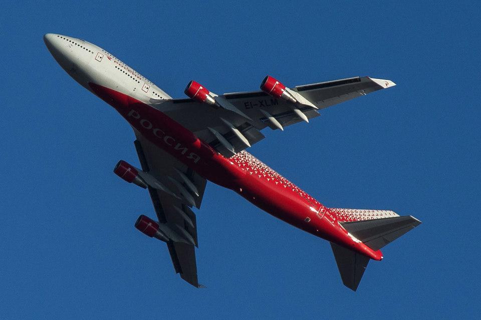 Услугами авиакомпании «Россия» в I квартале воспользовалось больше пассажиров, чем услугами «Сибири»