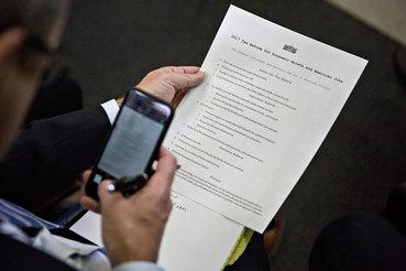 Весь план налоговой реформы Белого дома уместился на одной странице (на фото)