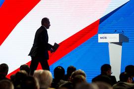 Основной посыл конференции был довольно агрессивным, позиция России по НАТО, США или конфликтам в Сирии или на Украине никаких изменений не претерпела