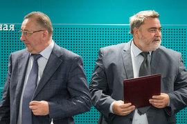 Николай Токарев (слева) обвинил ФАС в лице Игоря Артемьева (справа) в нанесении ущерба интересам и репутации «Транснефти»
