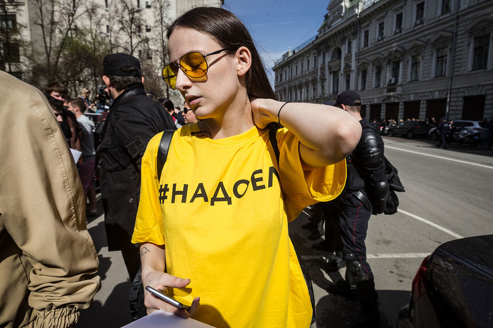 В Москве на акции «Надоел» не было задержано ни одного человека