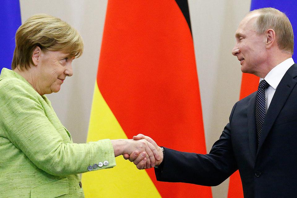 Владимир Путин и Ангела Меркель встретились в Сочи