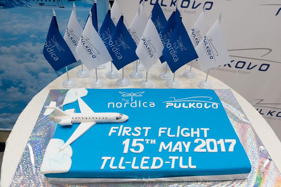Эстонская авиакомпания Nordica сегодня совершила первый за 1,5 года рейс из петербургского аэропорта «Пулково» в столицу Эстонии