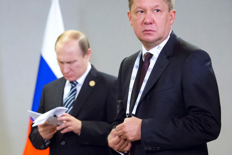 Президент Владимир Путин и предправления «Газпрома» Алексей Миллер