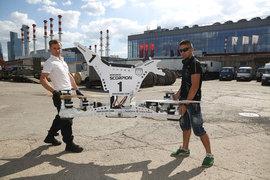 Модель, получившая название Scorpion, рабочая и способна подниматься на высоту вертолета (ее можно ограничить)