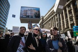 Участники митингов против реновации считают, что их домам нужна реконструкция, а не снос