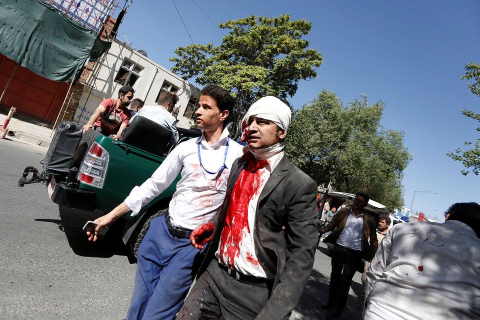 В посольском квартале в Кабуле произошел мощный взрыв