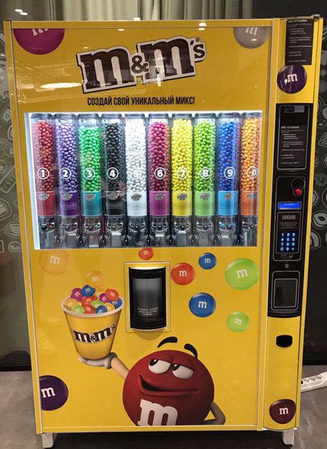 Автоматы для M&M's Colorworks