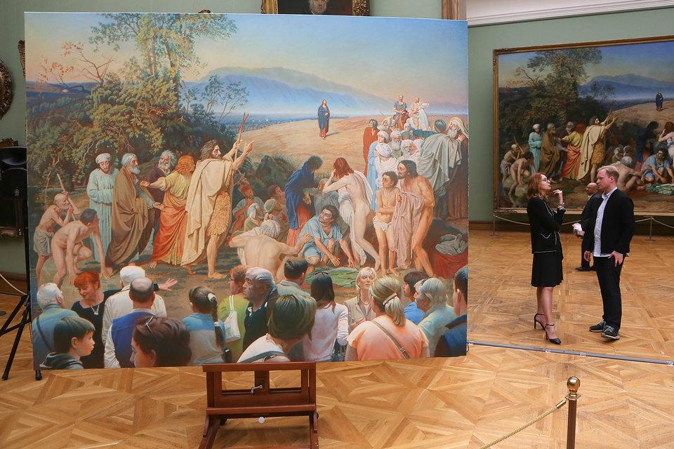 Только на один вечер «Картина и зрители» Эрика Булатова появилась в залах исторического здания Третьяковки
