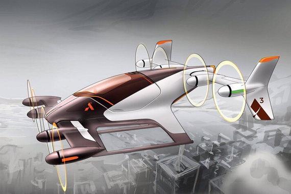 Летающие автомобили начинают подниматься в воздух
