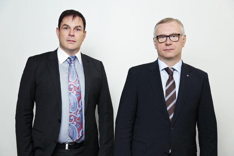 На фотографии: слева Кнут Алекс – Член Правления, справа Дмитрий Балакин – Генеральный Директор