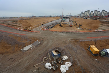 Инфраструктура строится по мере освоения территории