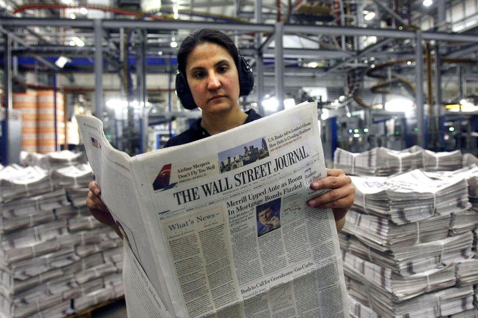 The Wall Street Journal закроет печатную версию газеты в Европе