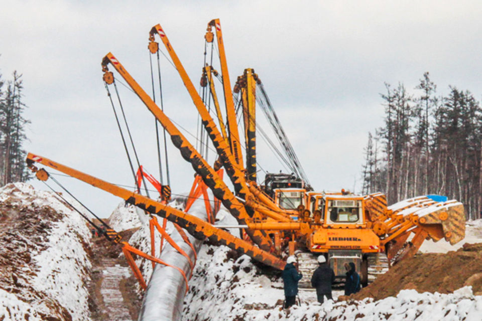 Общая протяженность «Силы Сибири» составляет около 3000 км