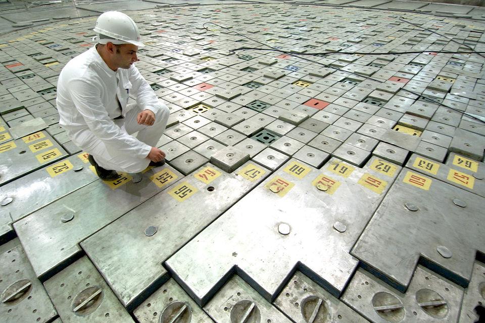 Реакторный зал энергоблока ЛАЭС