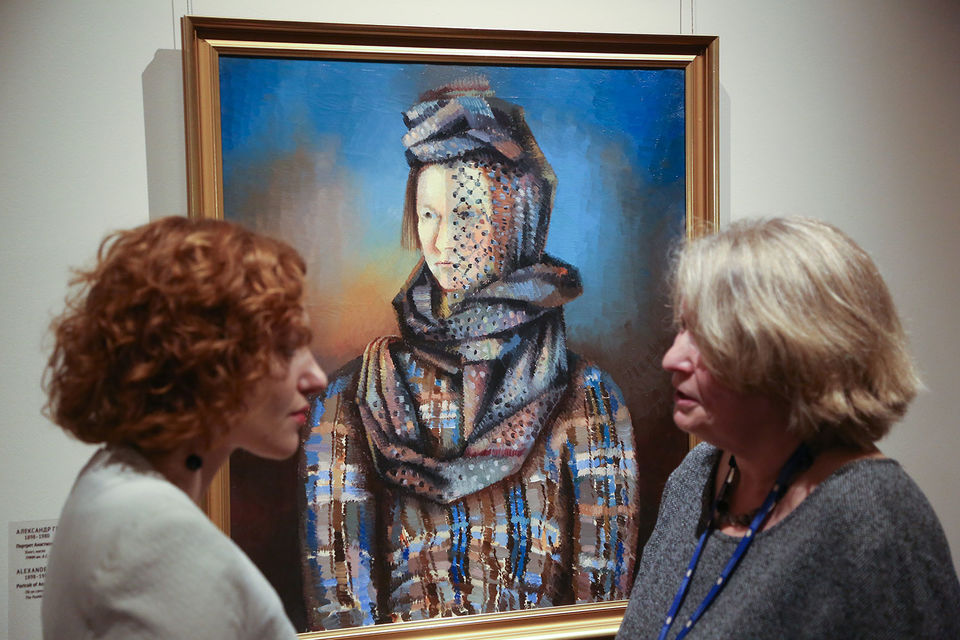 «Портрет Анастасии Степановны Тышлер» 1926 г. – одна из лучших работ художника