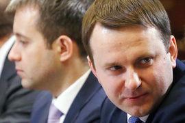 Министр экономического развития Максим Орешкин (справа) и министр связи Николай Никифоров