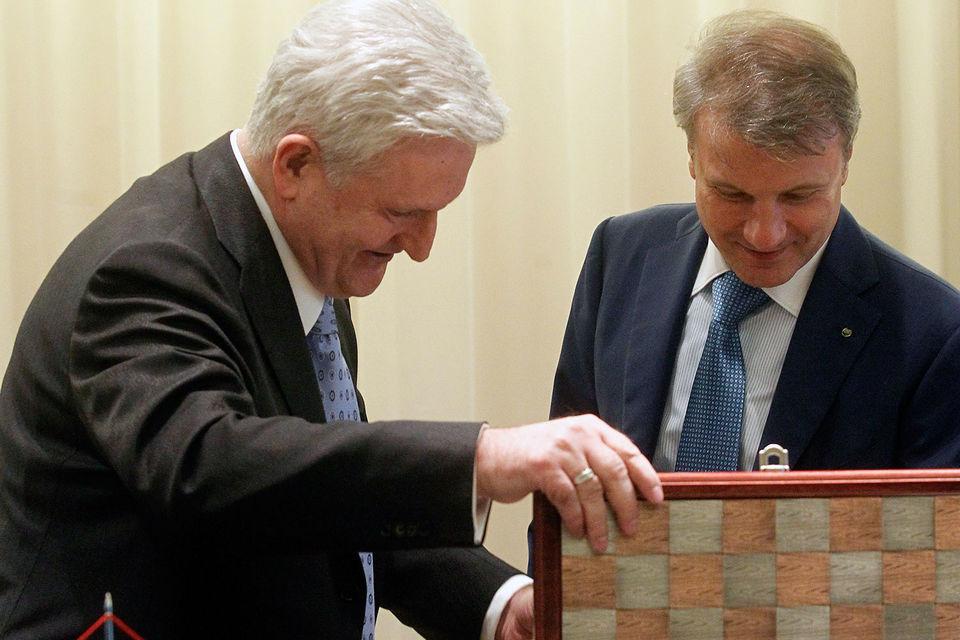 Сотрудничество с самым богатым человеком на Балканах – Ивицей Тодоричем (на фото слева) – завершилось для Германа Грефа (справа) неприятным сюрпризом
