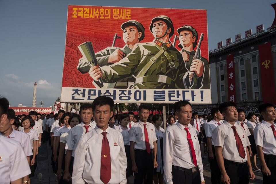Трудящиеся Северной Кореи (на фото) и армия КНДР готовы дать суровый отпор американскому империализму