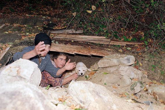 Убежище в одном из сел Абхазии