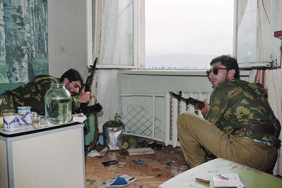 Грузинские гвардейцы в Эшерах