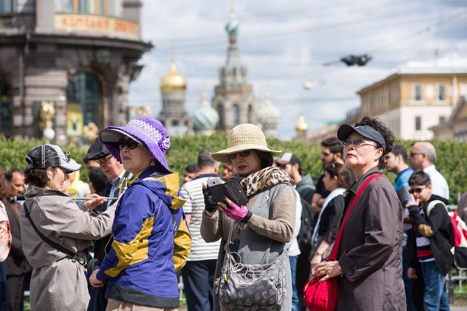 В Петербурге стало больше туристов из Китая
