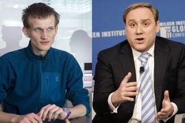 Основатель Ethereum Виталик Бутерин и специалист по кибербезопасности Дмитрий Альперович (слева направо)