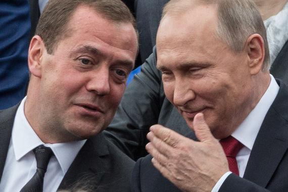 Первое место – Дмитрий Медведев, председатель правительства