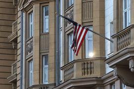 Посольство США в Москве (на фото) станет менее доступным для россиян