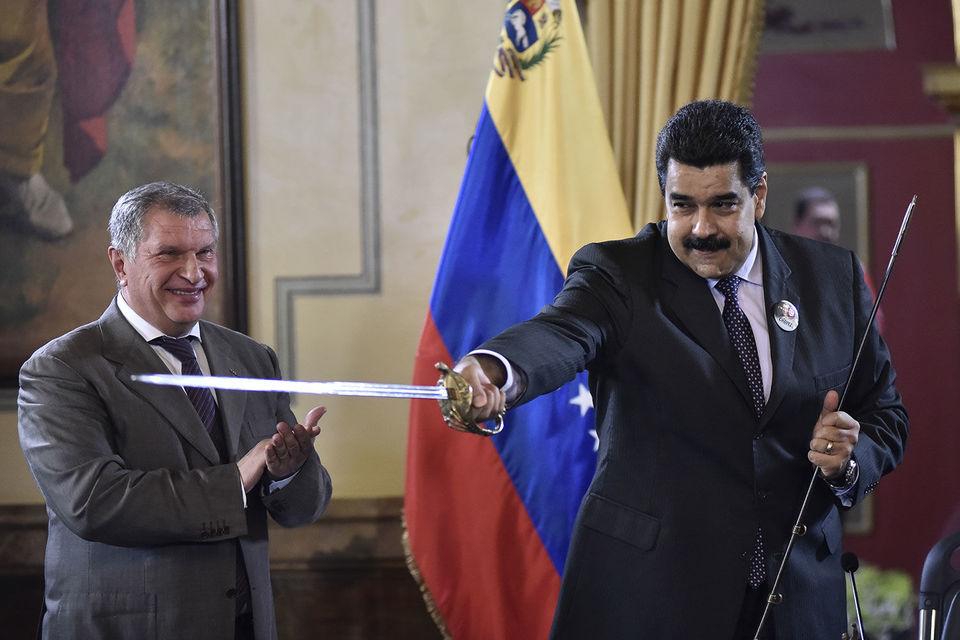 «Мы никогда из Венесуэлы не уйдем, и никто нас не сможет оттуда выгнать», - заявляет Игорь Сечин