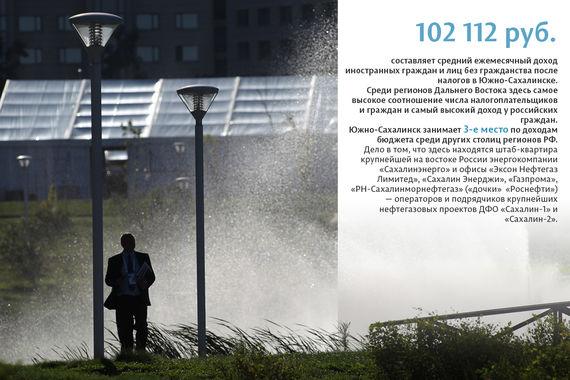 Среди крупных муниципалитетов Южно-Сахалинск лидирует еще и по среднему ежемесячному доходу иностранцев — благодаря расположенным здесь офисам крупных нефтегазовых компаний