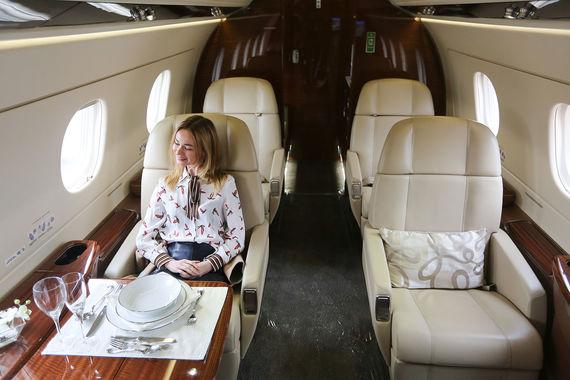 Интерьер Embraer Legacy 450