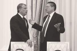 В период тучных нулевых силовики во власти вполне уживались с либералами. На фото: Игорь Сечин и Алексей Улюкаев