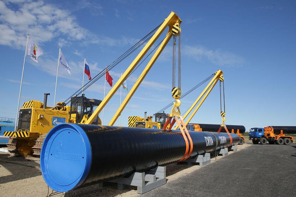 «Газпром» начал строительство газопровода в 2014 г.
