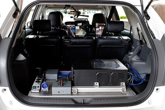 На фото интерьер беспилотного автомобиля