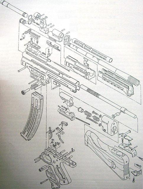 Схема немецкой штурмовой винтовки StG 44