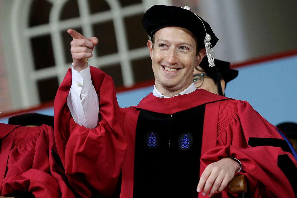 В декабре 2015 г. Цукерберг заявил, что в течение жизни пожертвует 99% акций Facebook на благотворительность