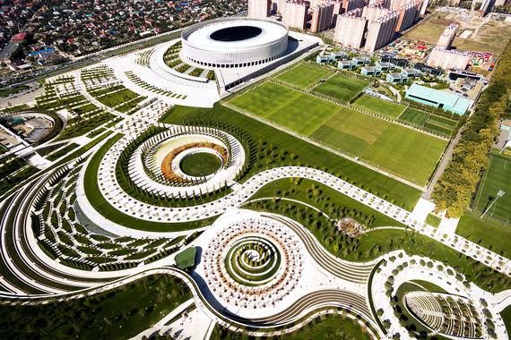 Совладелец розничной сети «Магнит» и ФК «Краснодар» Сергей Галицкий построил в Краснодаре парк. Он расположен рядом со стадионом «Краснодар», который считается одним из лучших в России и Восточной Европе. Парк открыли 28 сентября