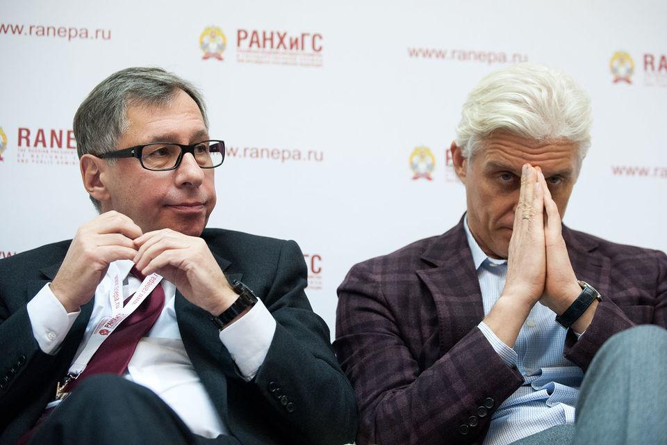 Петр Авен (слева) использует опыт Олега Тинькова (справа)